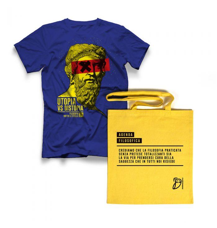 Agenda filosofica - t-shirt Blu+shopper
