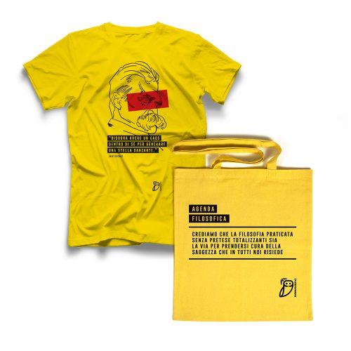 Agenda filosofica - t-shirt Gialla+shopper