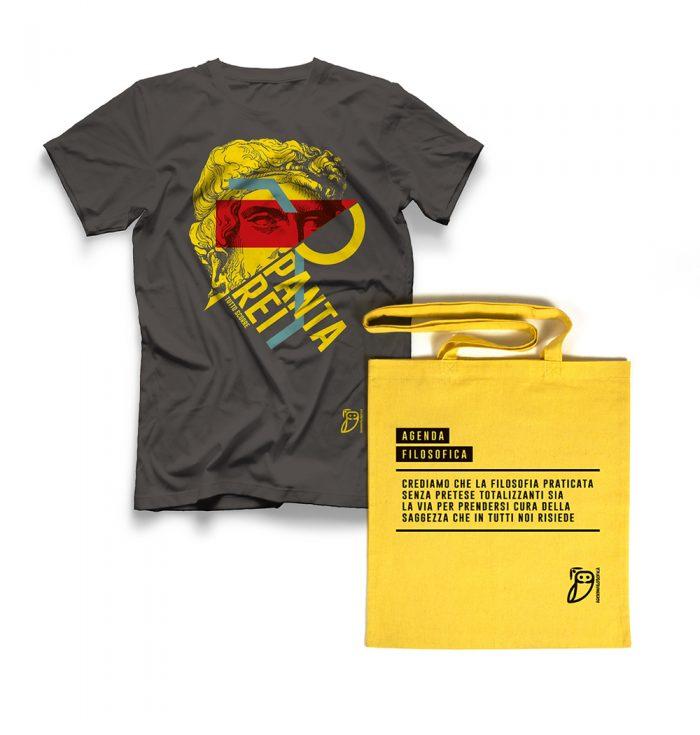 Agenda filosofica - t-shirt Grigia+shopper